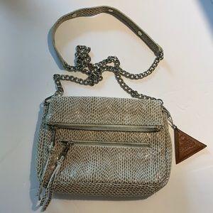 Sorial snakeskin silver chain crossbody bag
